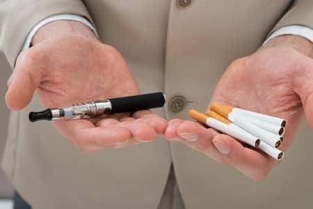 E-Zigaretten und Zigaretten