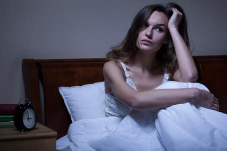Bild schlaflose Frau