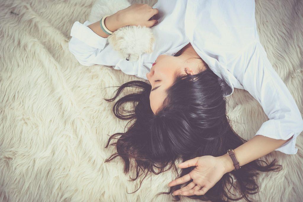 Bild entspannte Frau