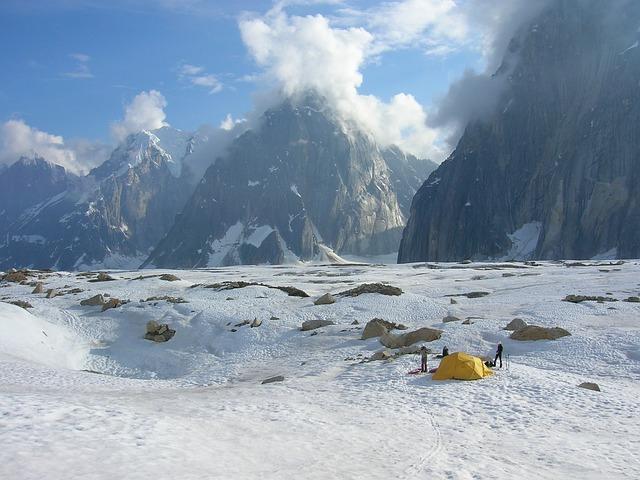 Bild Zelten im Winter