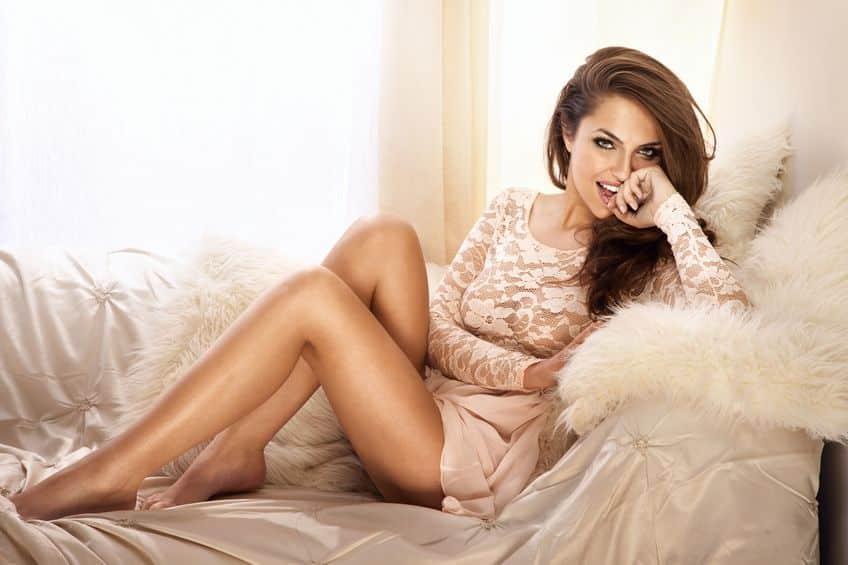 Bild Frau mit glatten Beinen