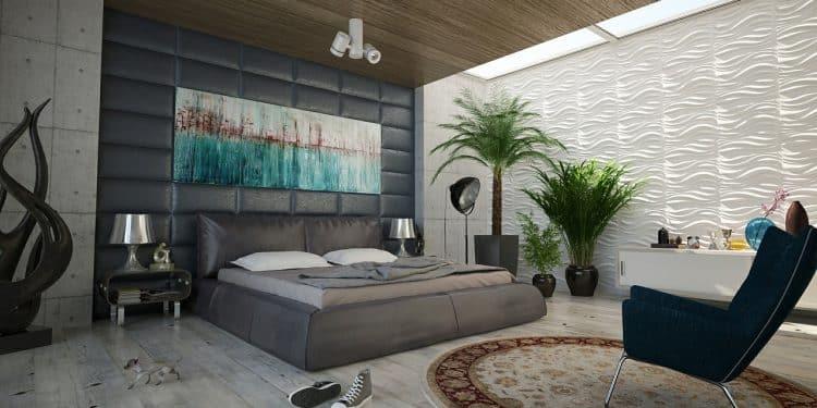 Bild Schlafzimmer mit Pflanzen
