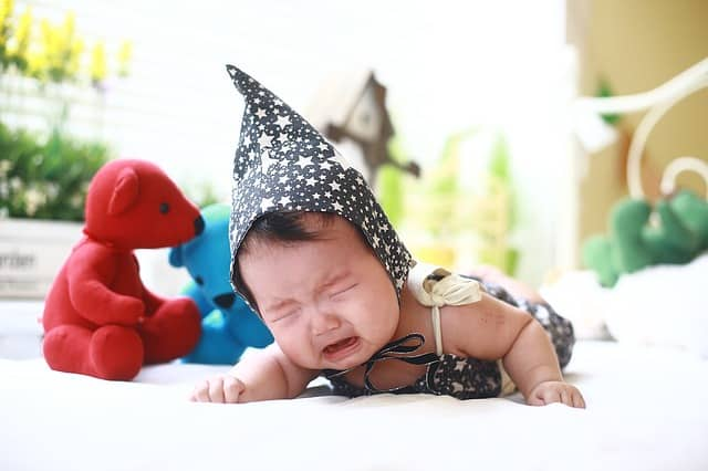 Bild Baby mit Koliken