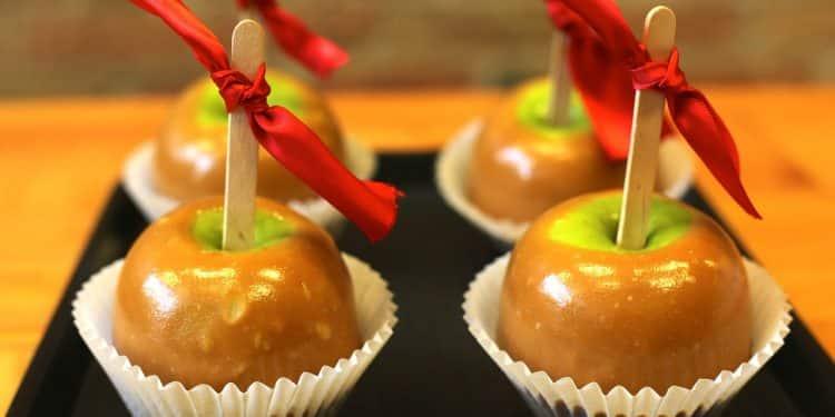 Bild karamellisierte Äpfel