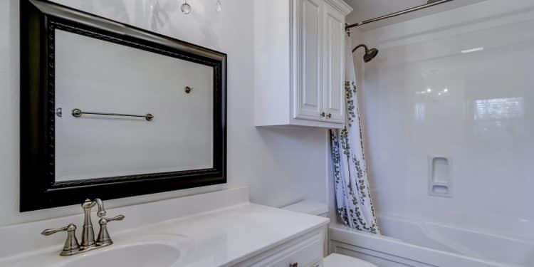Bild Duschvorhang im Bad