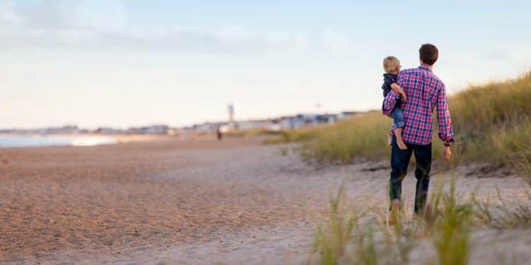 Bild Vater und Kind am Meer